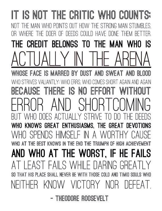 Here's the full quote from Roosevelt/@BreneBrown about being in the arena #acpadare #ACPA14 http://t.co/sX3oA0OXzn