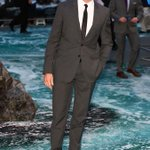 How hot is he!!!!@RealHughJackman wearing @Burberry tailoring at the #NoahPremiere in London last night