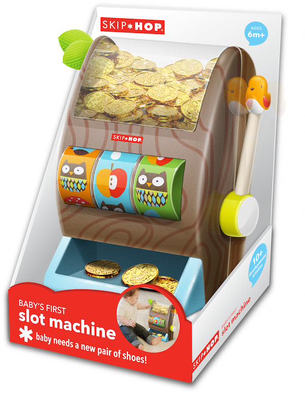 Introducing the newest #skiphop product, Baby's First Slot Machine! http://t.co/mNnXDukJeo