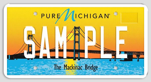 Congrats, Michigan! The Mackinac Bridge license plate was voted as the world's best new plate! http://t.co/vS1uw7OoGC http://t.co/J4TVHUb7bT