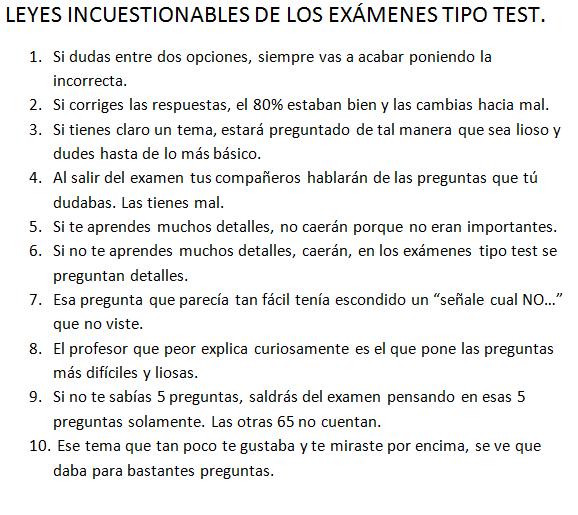 son leyes de los exámenes tipo test en medicina: http://t.co/EbFtflt0PD