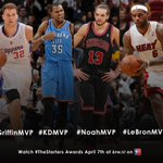 RT @NBATV: #TheStarters Awards are Apr. 7! Who's your MVP? Check out the nominees below & vote using the hashtag.