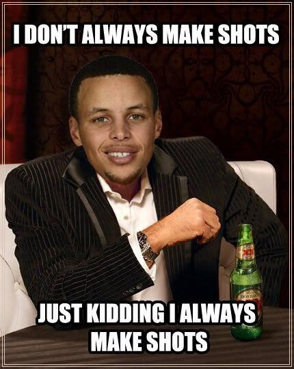 This dude right herre! Shot wit caution! Sike! Let it fly.....#Splash! @StephenCurry30 http://t.co/B4sOYxVErE