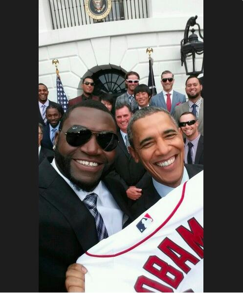 See David Ortiz's selfie that he took with President Obama http://t.co/LjkS4v4HE9 http://t.co/BXOoEaq6RS