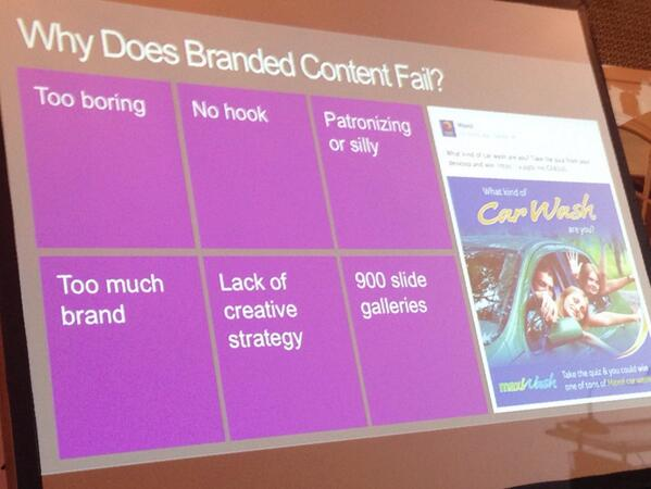 6 reasons why branded content fails - Davis #content360 http://t.co/idqi4qjtlp