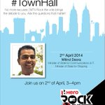 RT @MTVIndia: Have questions for @INCIndia's @milinddeora? Tweet your questions to us with #TownHall. Make sure you #RockTheVote http://t.c…