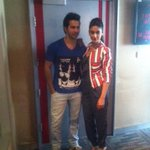 .@Varun_dvn & @Ileanaofficial at Fever FM in Delhi ! #mainterahero