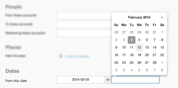 [ Astuce #CM ] #Twitter permet désormais de rechercher des tweets de date à date : http://t.co/WN8Swv527T