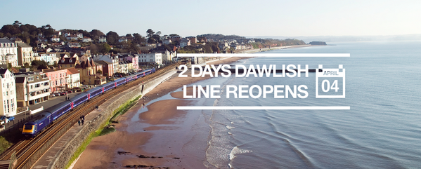 2 days until the Dawlish line reopens! http://t.co/q6APhK0PjT