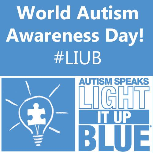 World #Autism #Awareness Day! Tell us how you are lighting it up blue using the hashtag #LIUB! http://t.co/sUrHjzUWmL
