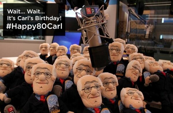Happy Birthday Carl Kasell! You're making 80 look good. #Happy80Carl http://t.co/qjvdxHC2th