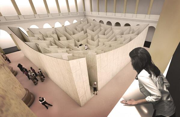 A-MAZE-ING NEWS! We'll have a BIG @BjarkeIngels designed maze in the Great Hall this summer! http://t.co/6Skj7BcmHQ http://t.co/LmppepVfYA