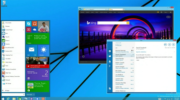 Here's a pic of the new Windows Start menu. Windows 7 users, you should be very happy. http://t.co/rfddi1tJmq