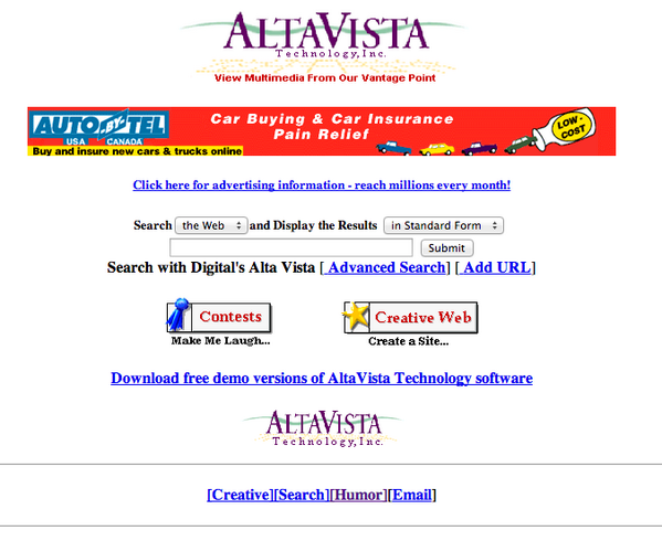 In 1996, this is what the top search site looked like http://t.co/5WnWACHMeT