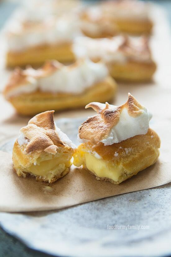 My kitchen was clean, so I made thing. Lemon meringue éclairs #recipe: http://t.co/usqX5jxC1d http://t.co/6hWLFD3CG6