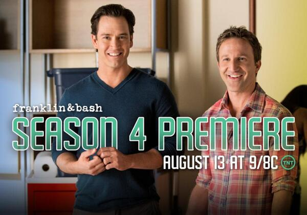 Your court date is set for August 13th at 10/9c. Don't be late. RT if you're ready for #FranklinandBash Season 4! http://t.co/gg8pOSV8kr