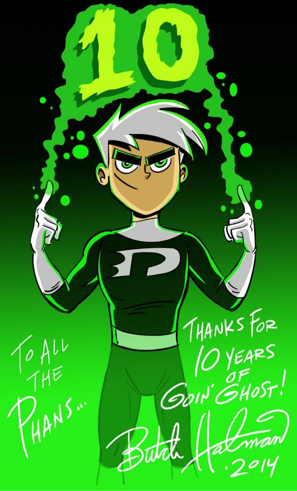 #DANNYPHANTOM Premiered 10 yrs ago today! I drew this for the DP #PHANS out there! Happy #Dannyversary! @GreyDeLisle http://t.co/03TEcF64J1