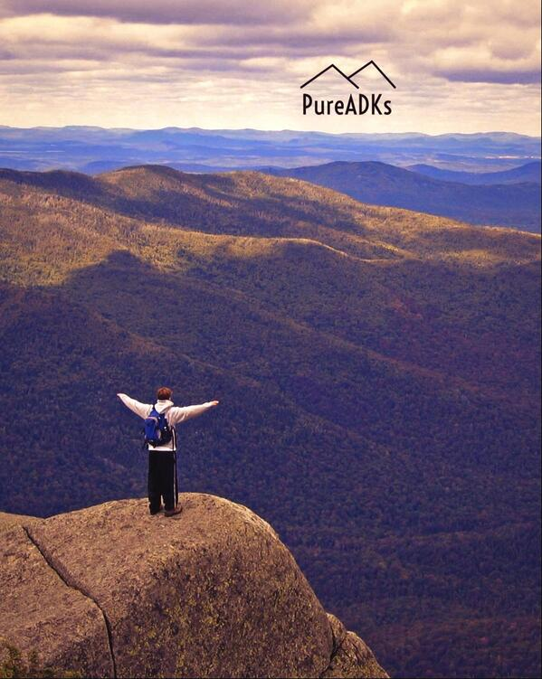@PureADK: Lookout point on Wright Peak in the Adirondacks. #myadventure http://t.co/W7gjfDGTDG