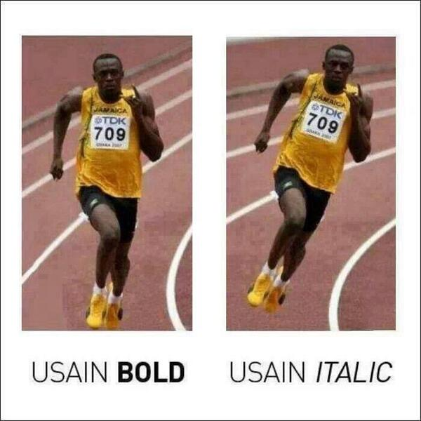 USAIN lol http://t.co/HZrvdIXNlA
