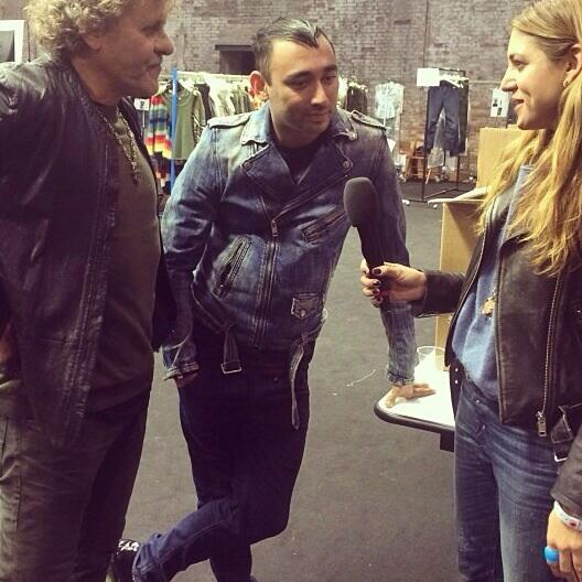 Interview for @nylonmag w @renzorosso + @nicolaformichetti before the BIG show! POW! #regram #reboot #dieselvenice http://t.co/UXg8t0AqWa