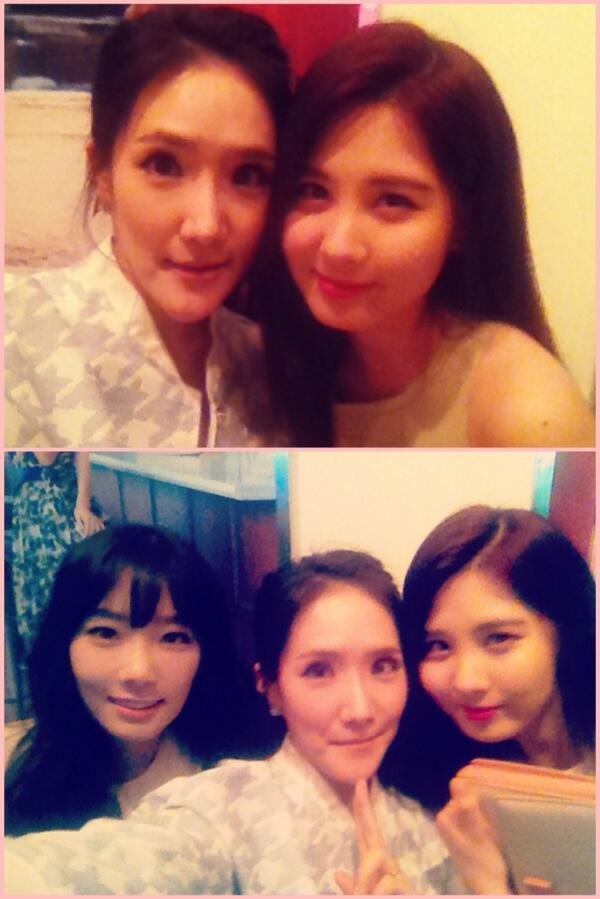 #Ferragamo 사진전을 빛내준 #소녀시대 #태연 #티파니 #서현