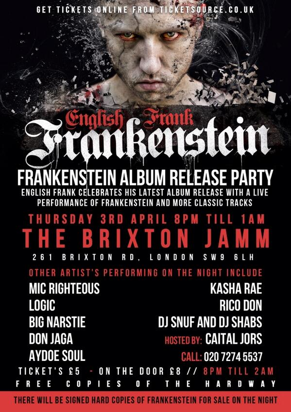 Biggest Hip Hop of the year tonight Brixton Jamm @englishfrank #SaluteSir http://t.co/nmZCNRR4uu