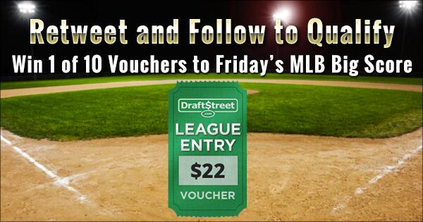 Retweet and follow to win 1 of 10 FREE vouchers into our $100,000 #MLB Big Score: http://t.co/JovSMpKAWO $22 value! http://t.co/LjfUQreYRT