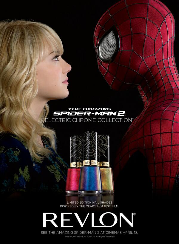 New #ElectricChrome Nail Enamels inspired by The Amazing #SpiderMan 2, at cinemas April 18 http://t.co/ESBHGKUSs5 http://t.co/ljvxdpaa39