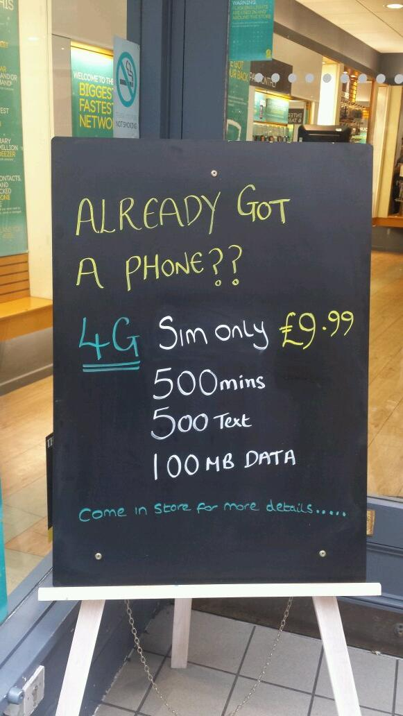 Phone contract ripoff of the century - touting 4G with 100mb/mo data http://t.co/rc8B92Nm8R