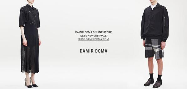 New DAMIR DOMA Spring Summer 2014 arrivals now available - Shop now at http://t.co/hTZ3ZVTM1V http://t.co/UtAumin3E0
