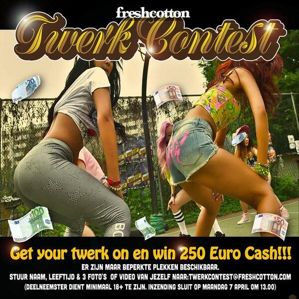 Dit. Who's in? FreshCotton Twerk Contest. http://t.co/BOzuVp3gxu
