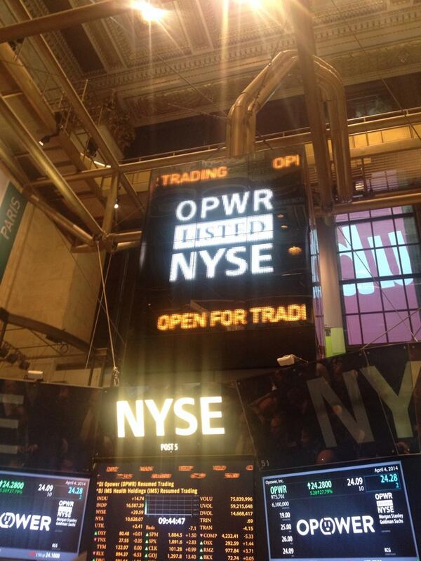 Opower is now public! Thanks to our utility partners an employees for making it possible! $OPWR @NYSEEuronext http://t.co/ZbiwQEd8EL