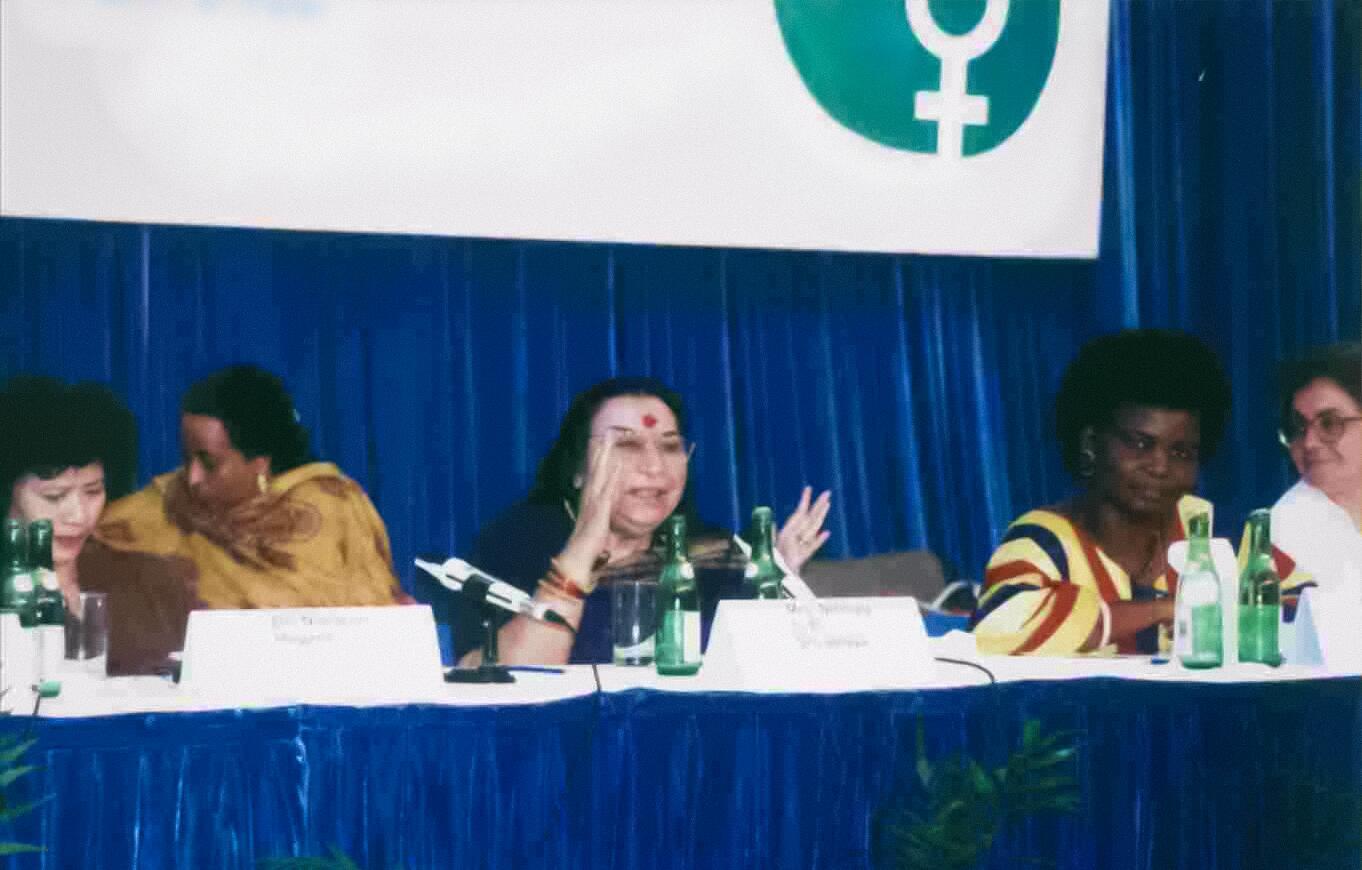Shri Mataji Nirmala Devi speaking at the United Nations International Women's Conference in Beijing, China in 1995. http://t.co/deqleE9Czd
