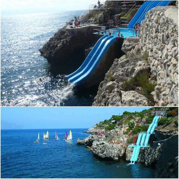 The world's coolest water slide, Sicily, Italy http://t.co/7ZllWhxDmH