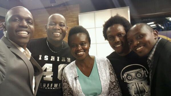 Great to have @rufftoneigiigi @HenrieMutuku @djfinalkut and @stevemutuku on #theTrend tonight http://t.co/cpbpJTx951