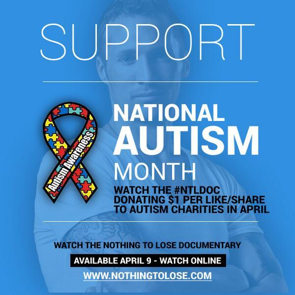Spread the word about #AutismAwareness & #NTLdoc support. #autism #autismawarenssmonth #LIUB #GiveBack http://t.co/oviWYg92fu
