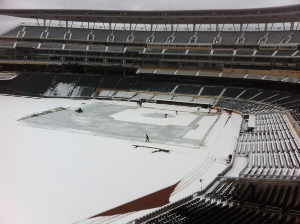 No worries folks, we'll be ready by Monday.  We are in good hands with @TCGroundsCrew at the helm http://t.co/agHYDpgScP