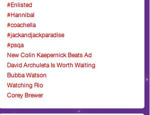 @FOXTV Please note this screencap of trending topics when #Enlisted wasn't even on. The show has fans. Lots of them. http://t.co/CclQlzJ5ia
