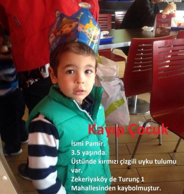 #PamirAranıyor bilgi için, Zekeriyaköy jandarma 0212 202 68 22 http://t.co/8OkcTS9MXW