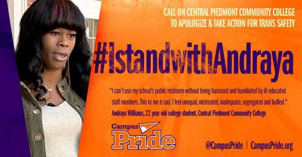 #IStandWithAndraya: Call on @cpcc to apologize & take action for #trans safety #LGBT http://t.co/kPmrUILIyg @Lavernecox @JanetMock