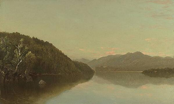 Lake George - John Kensett http://t.co/3RJaSK9aat