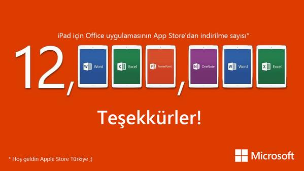 Hoşgeldin Apple Store Türkiye. Bizi nerede bulacağını biliyorsun :) > #Officeforipad http://t.co/mbVq1YT8Wv