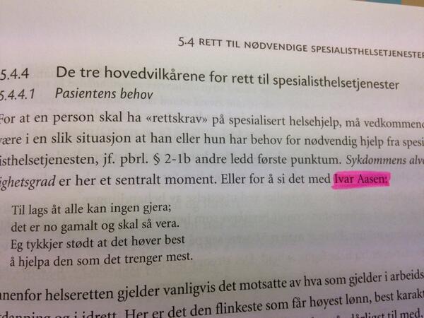 Det er mange måter å lære seg juss på. F.eks. ved hjelp av Ivar Aasen :) http://t.co/apiW0pqKEb