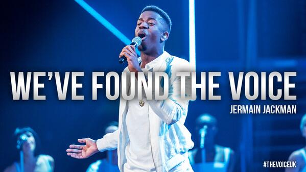 The winner of The Voice series 3, it's… @JermainJackman! #thevoiceukFINAL http://t.co/eqMcNInYze