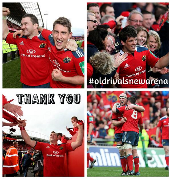 To our supporters today in Thomond Park, at home and abroad - Thank you for today & always! #SUAF #semisecured http://t.co/l3OEpdYB2Q