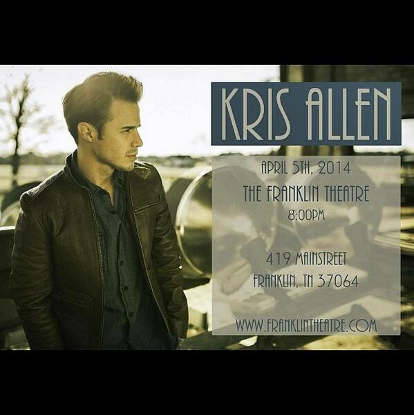 Last show with @KrisAllen for a while. Hope to see some familiar faces! Come hang! http://t.co/AhgyayvH6Y