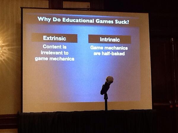 RT @dannybirchall: Why Do Educational Games Suck? #MW2014 http://t.co/YCixXgZyna
