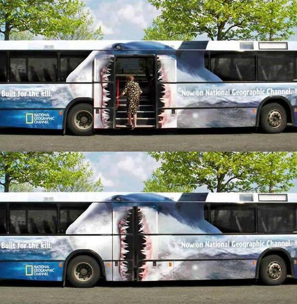 Creative National Geographic bus ad: http://t.co/UXnhFL6Mg3