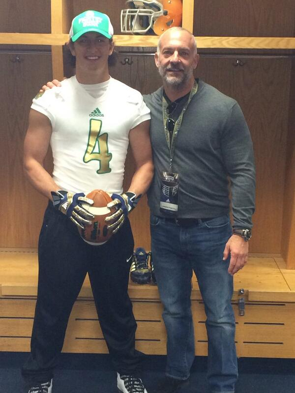 Excited to say I'm officially committed to THE University of Notre Dame #GoIrish #WeAreND