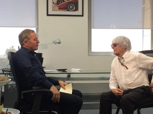 Early morning interview with @MBrundleF1, watch SkyF1 to see what Mr E had to say! http://t.co/nsnbEhNvAj